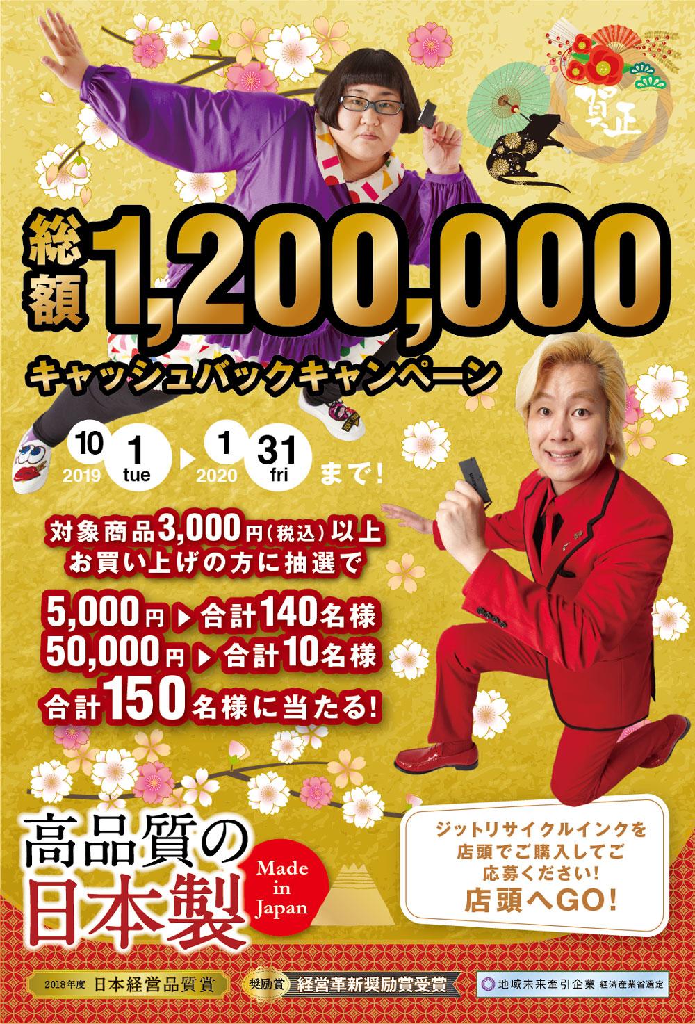 総額120万円キャッシュバックキャンペーン実施中