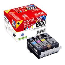BCI-321+320 BCI-321 3色(C/M/Y)+BCI-320PGBK 4色セット対応 ジットリサイクルインク