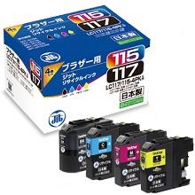LC117/115-4PK 4色セット 大容量タイプ対応ジットリサイクルインク